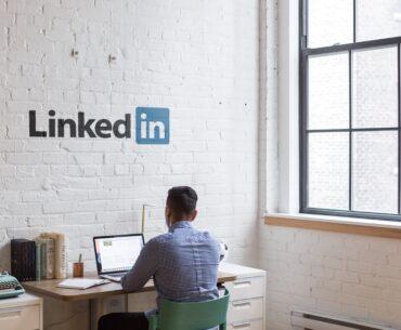Man working on personal branding on LinkedIn
