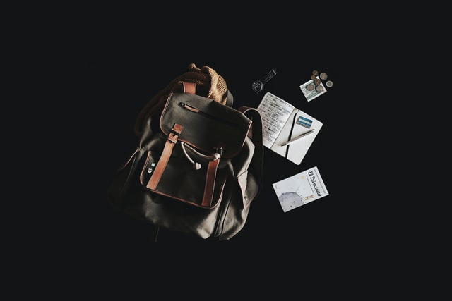 staying organized with backpack