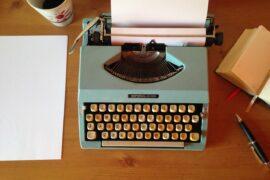 Typewriter of a successful writer