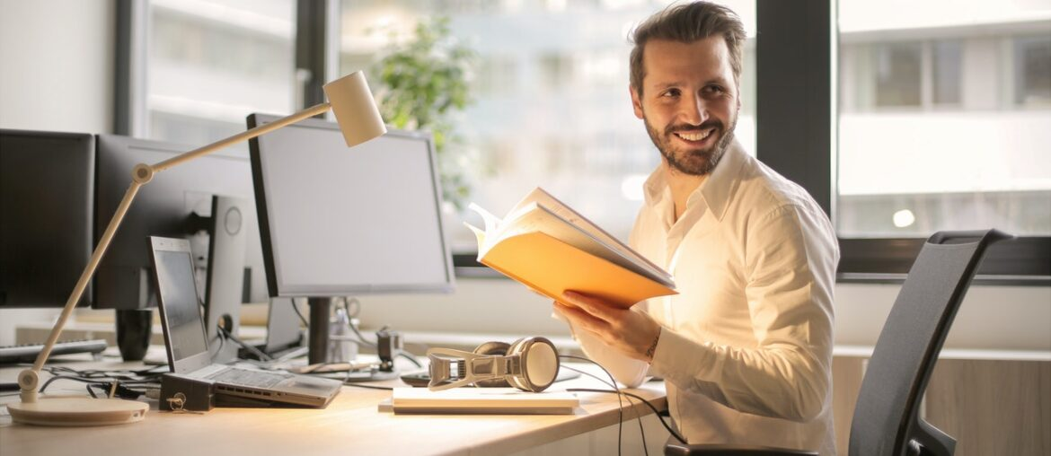 Man being productive after getting stress management tips for freelancers
