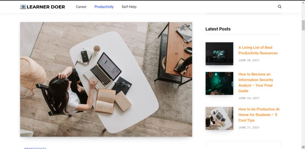 Best productivity resources: Blog - LearnerDoer