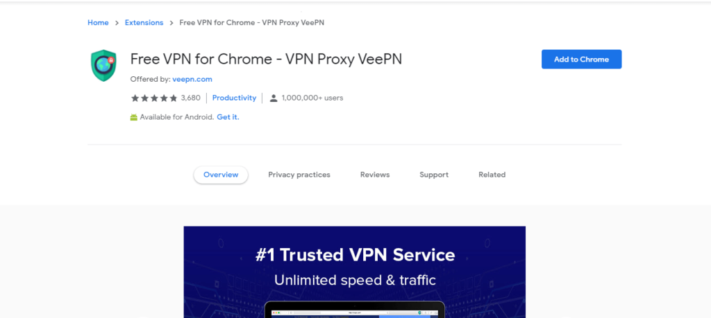 best chrome extensions to improve work from home: Free VPN for Chrome