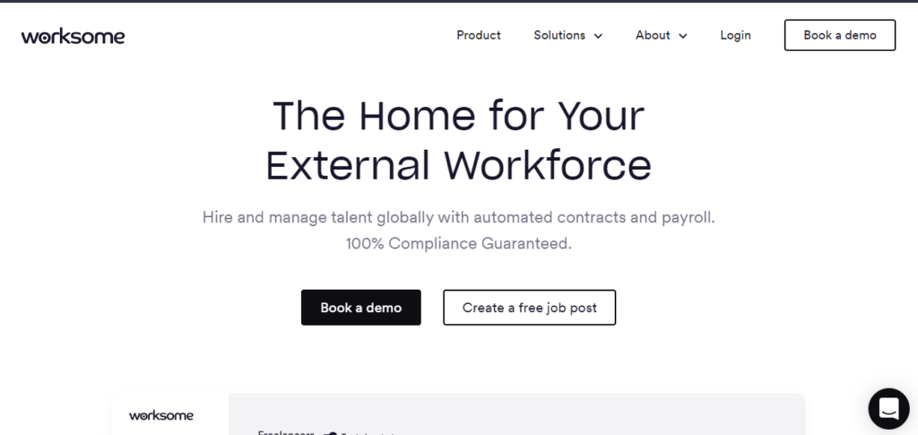 Low competition freelancing: Worksome